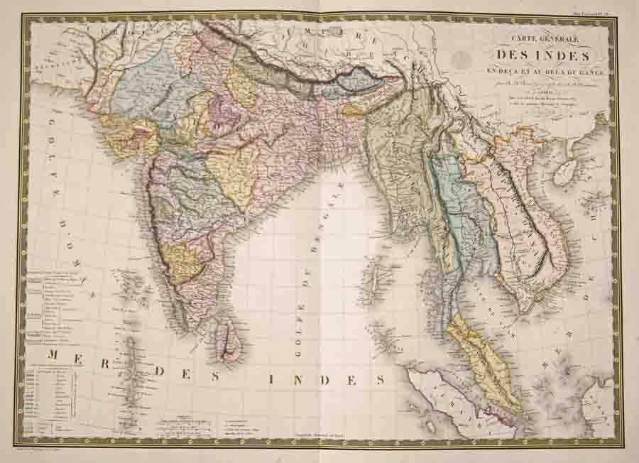 Brué A.H. Carte Générale des Indes en-deca et au-dela du Gange