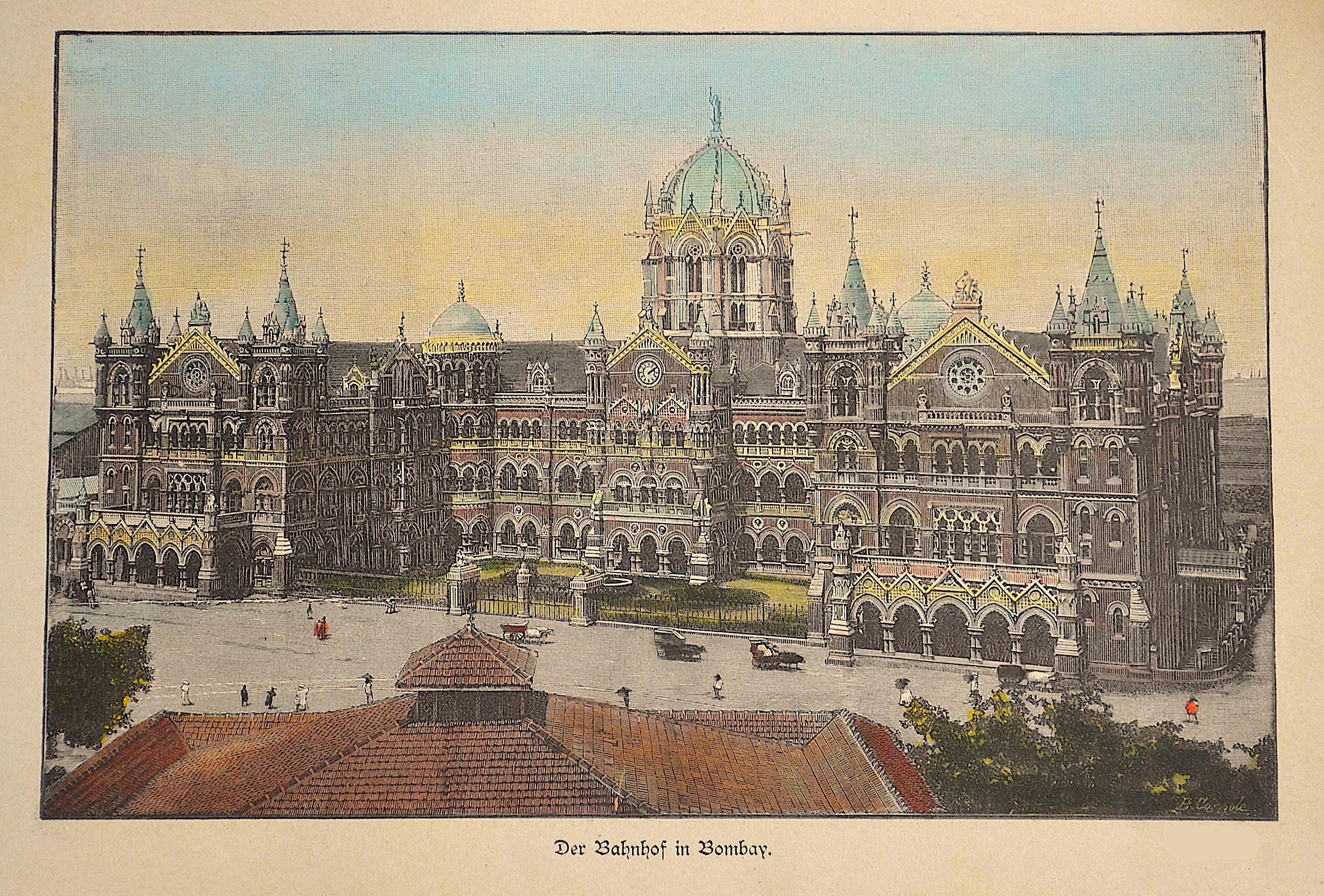 Console  Der Bahnhof in Bombay.
