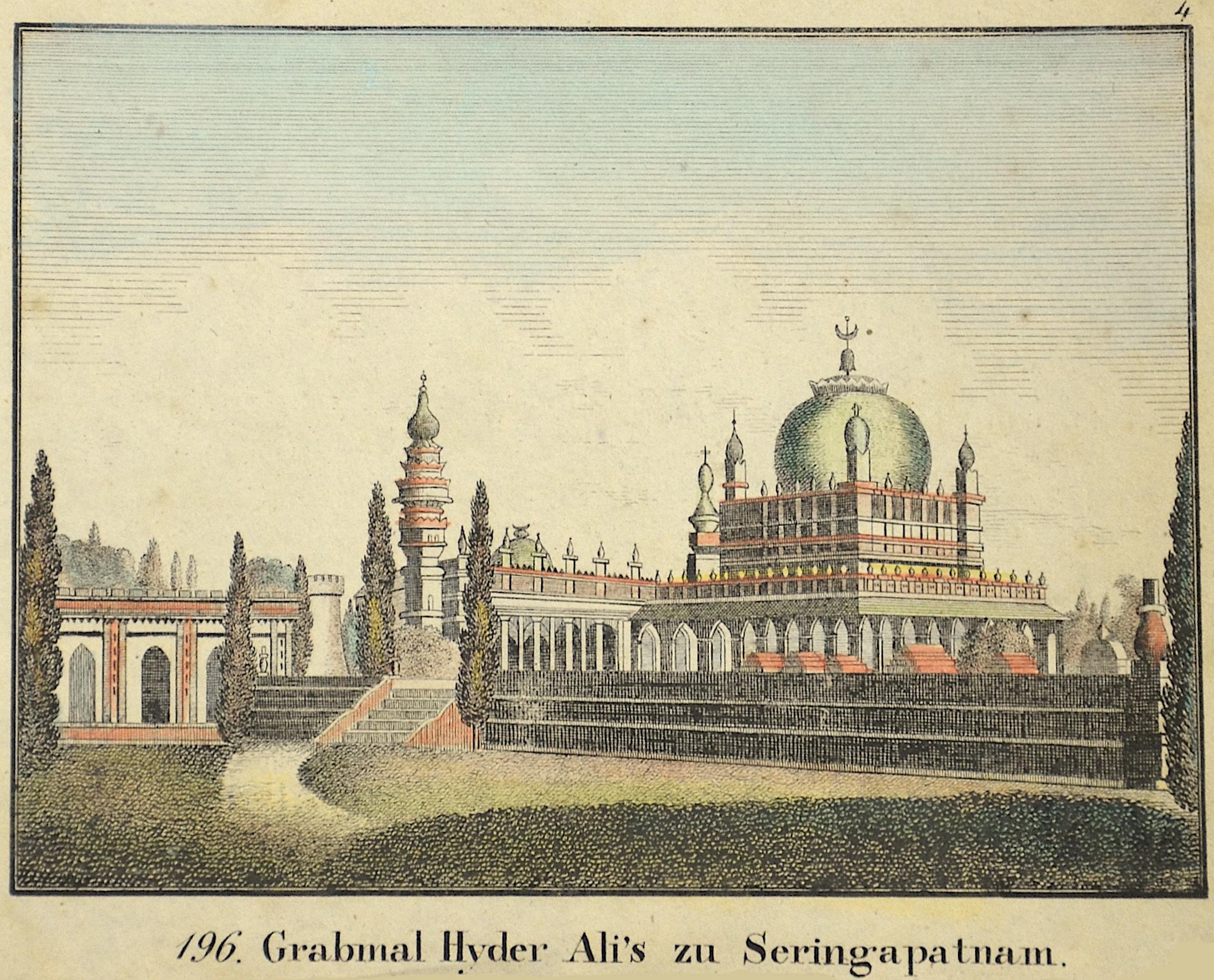 Anonymus  Grabmal Hyder Ali's zu Seringapatnam.