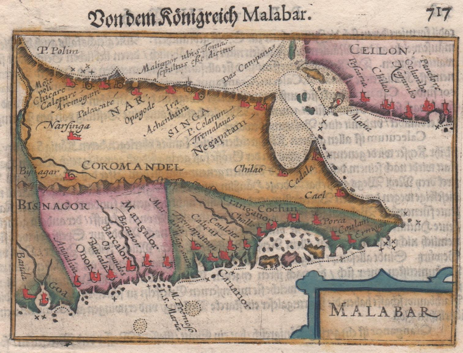 Bertius  Von dem Königreich Malabar.