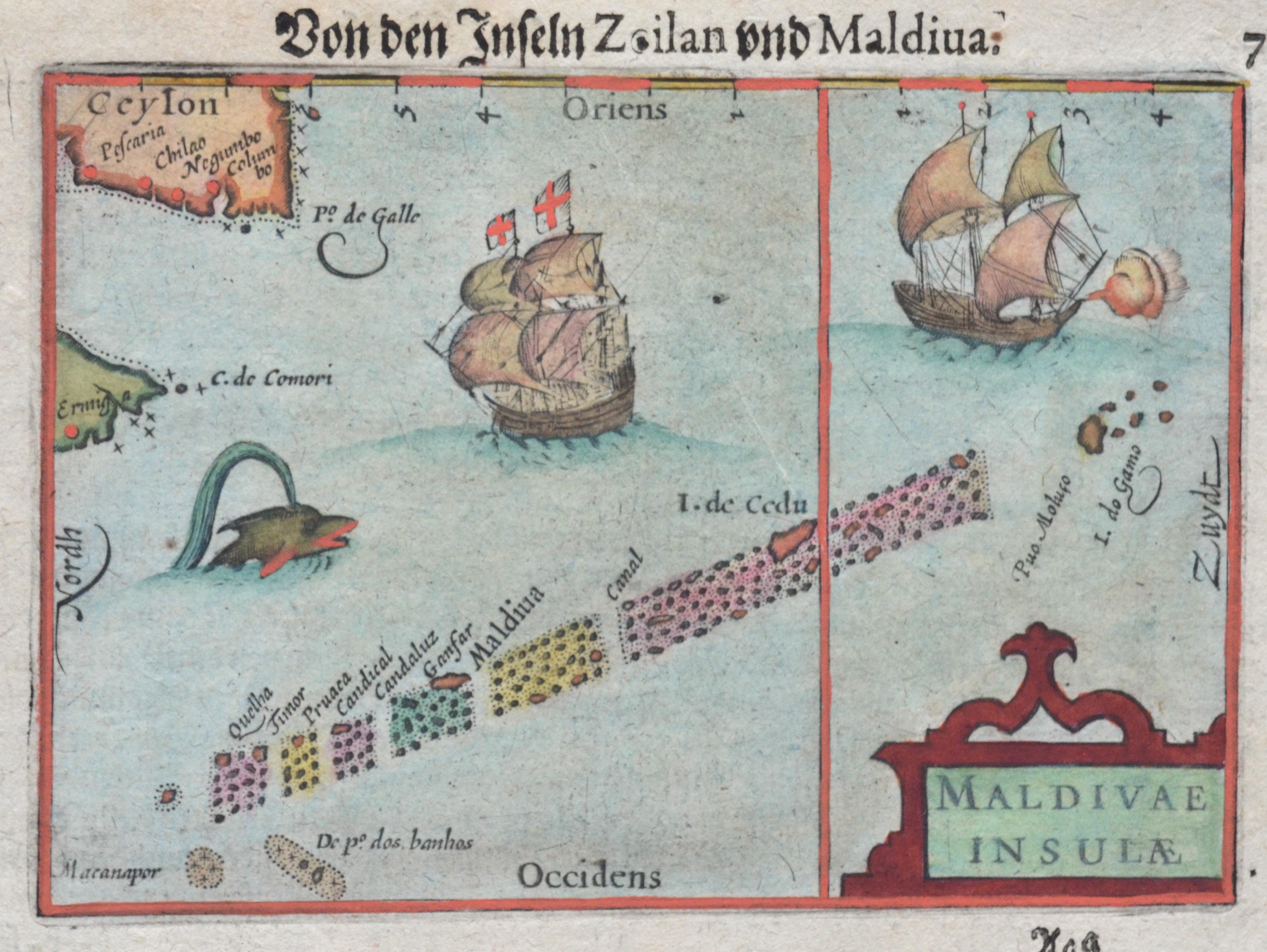 Bertius Petrus Von den Inseln Zeilan und Maldiva. / Maldivae Insulae