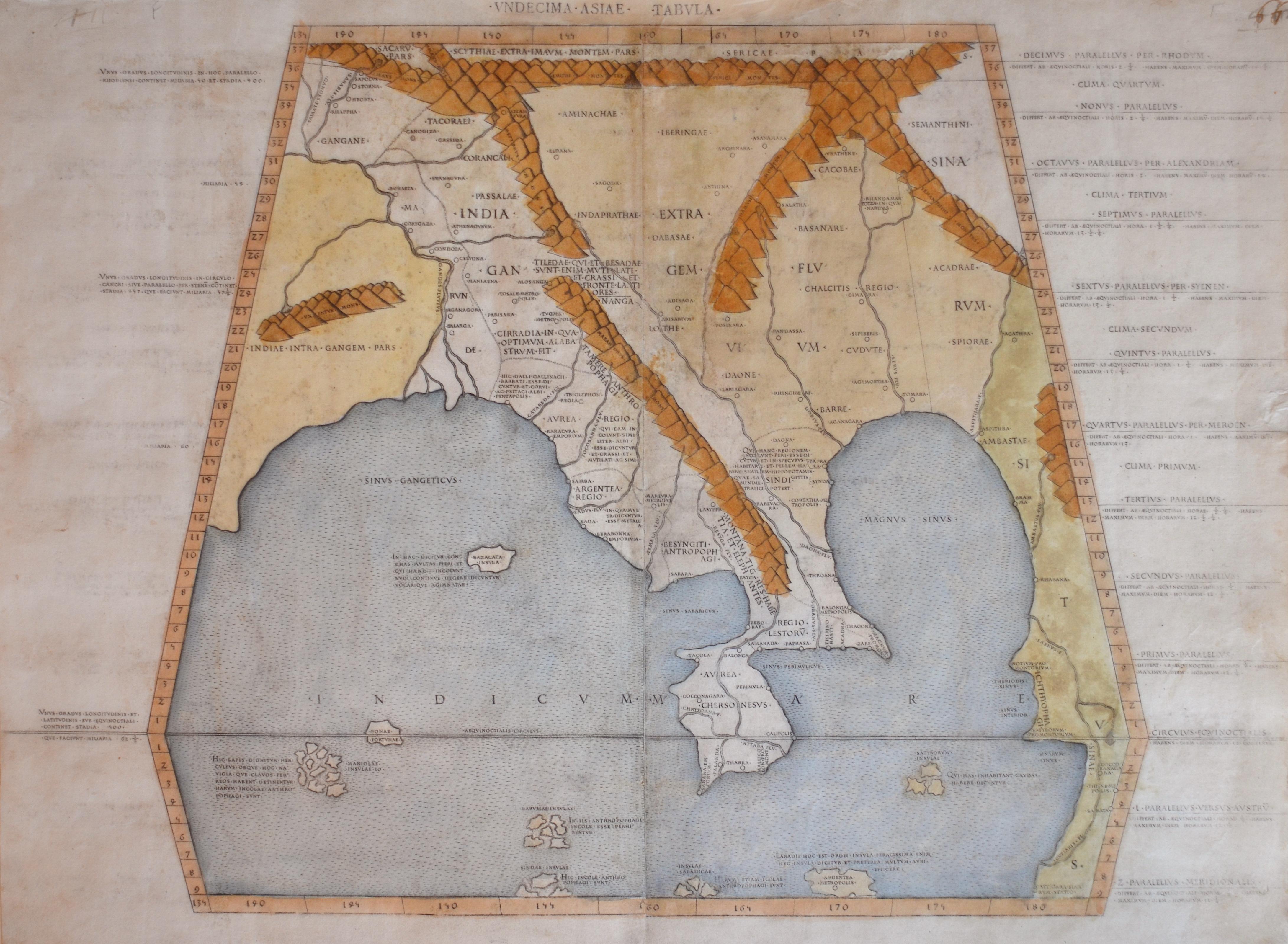 Ptolemy/Conrad Sweynheym  Undecima – Asiae – Tabula