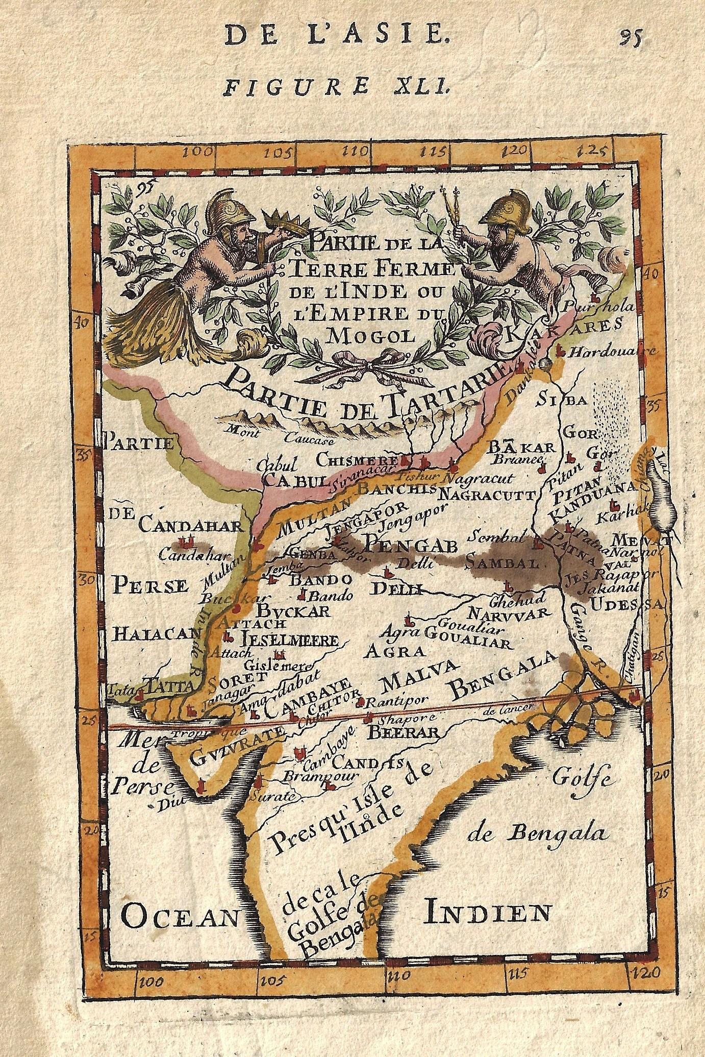 Mallet  De l'Asie. Figure XLI. Partie de la Terre Ferme de l'Inde ou l'Empire du Mogol