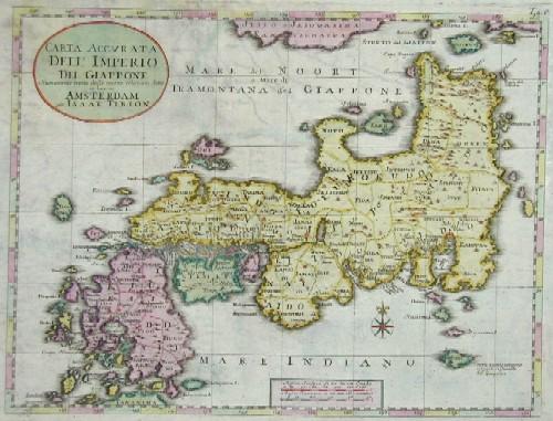 Tirion Isaak Carta accurata dell Imperio del Giappone…