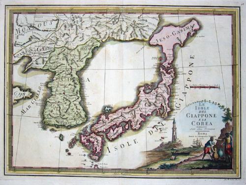 Cassini Giovanni Maria Le isole del Iappone e la Corea