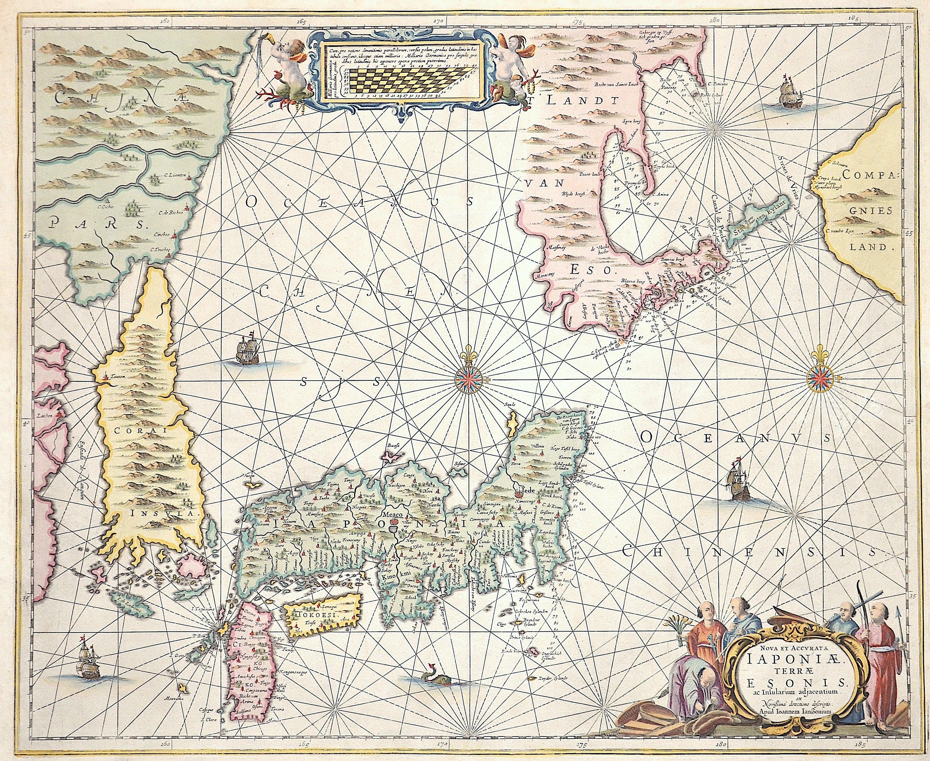 Janssonius  Nova et accurata Iaponiae Terrae Esonis ac Insularum adjacentium…