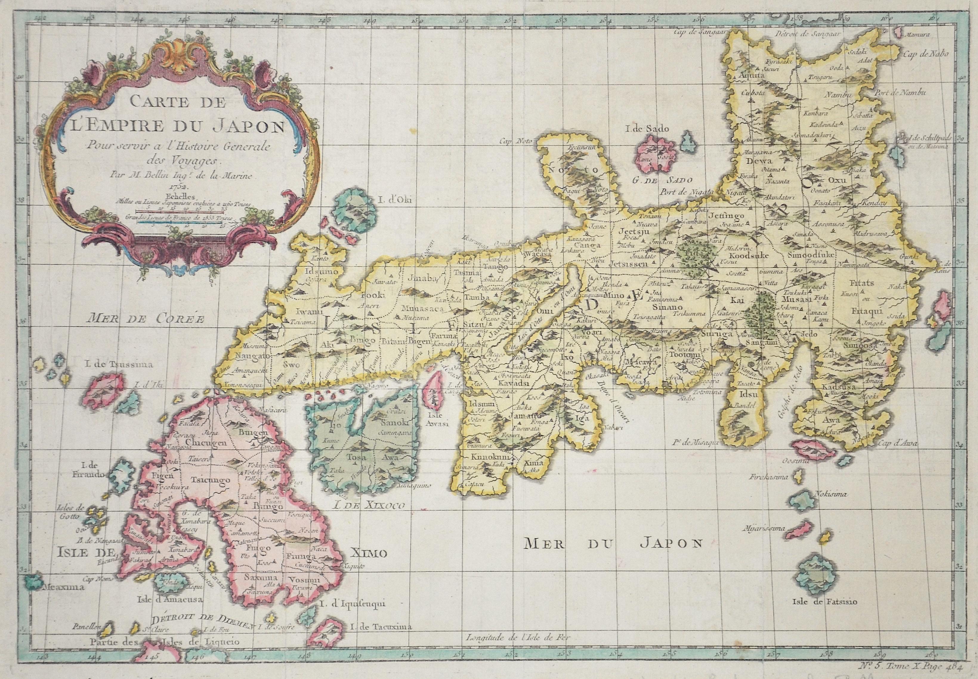 Bellin  Karte von dem Reiche Japon