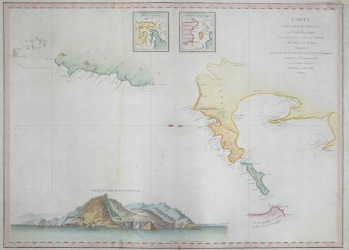 Pérouse, la Jean Francois Carte des découvertes au Nord du Japon