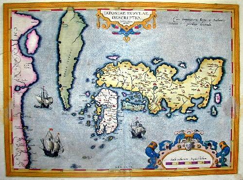 Ortelius  Iaponiae insulae descriptio
