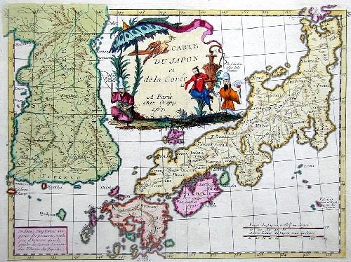 Crepy  Carte du Japon et de la Coree