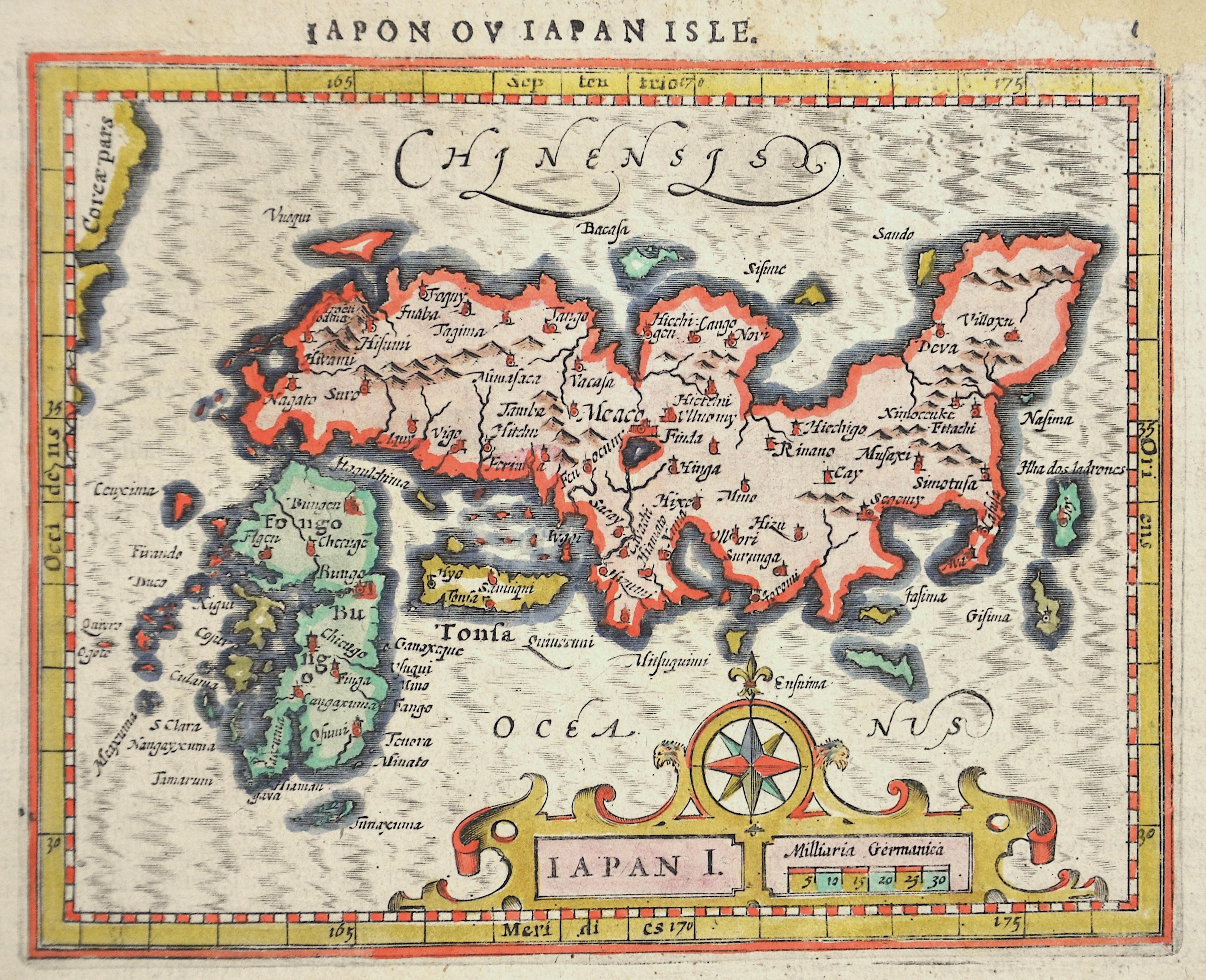 Mercator  Iapon au Iapon Isle