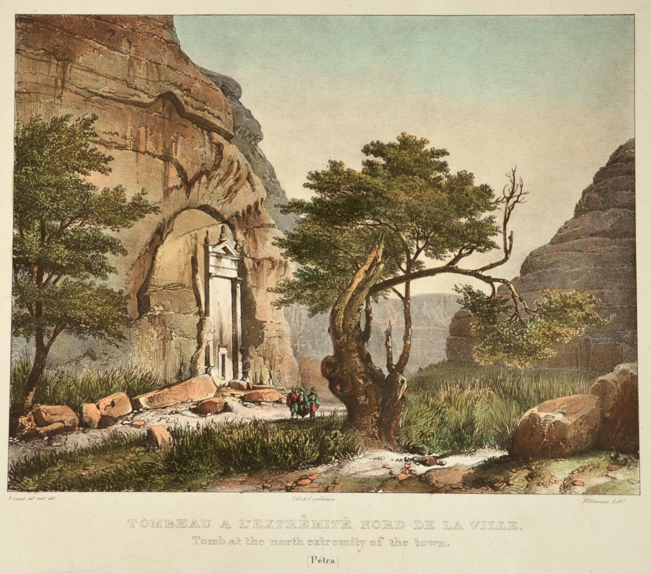 Engelmann  Tombeau a l´extréminté nord de la ville/ Tomb at the north extremety of the town ( Petra)