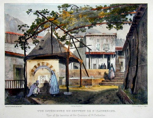 Engelmann  Vue interrieure du couvent de sSe. Catherine/ View of the interrior of the convent of St. Catherine
