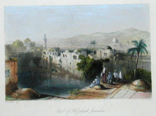 Bartlett Henry William Pool of Hezekiah, Jerusalem