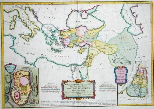 Bonne Rigobert Carte des regions et des lieux dont il est parlé dans le nouveau testament