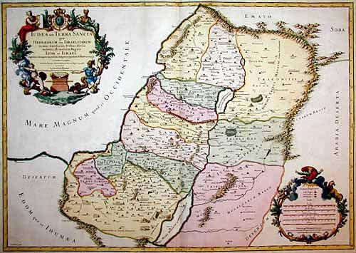 Jaillot Hubert Iudaea seu Terra Sancta quae Hebraeorum sive Israelitarum…