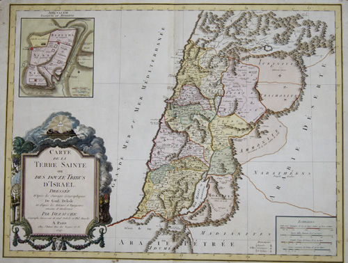 Dezauche/de l´Isle, J.A. / G. Carte de la Terre Sainte ou des Douze Tribus d´ Israel