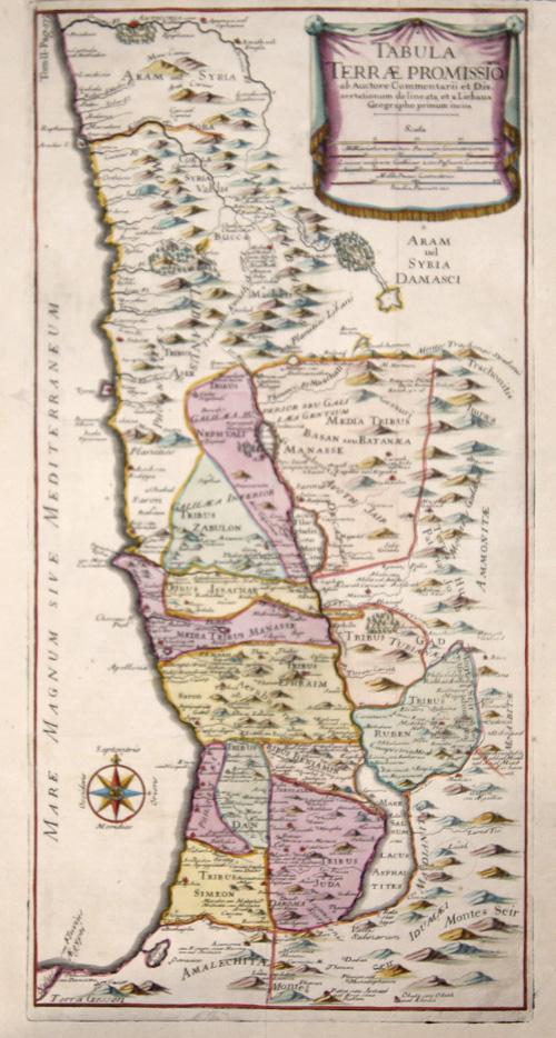 Anonymus  Tabula Terrae Promissionis ab Auctore Commentarii et Dissertationum delineata, et a Liebaux Geographo primum incisa.