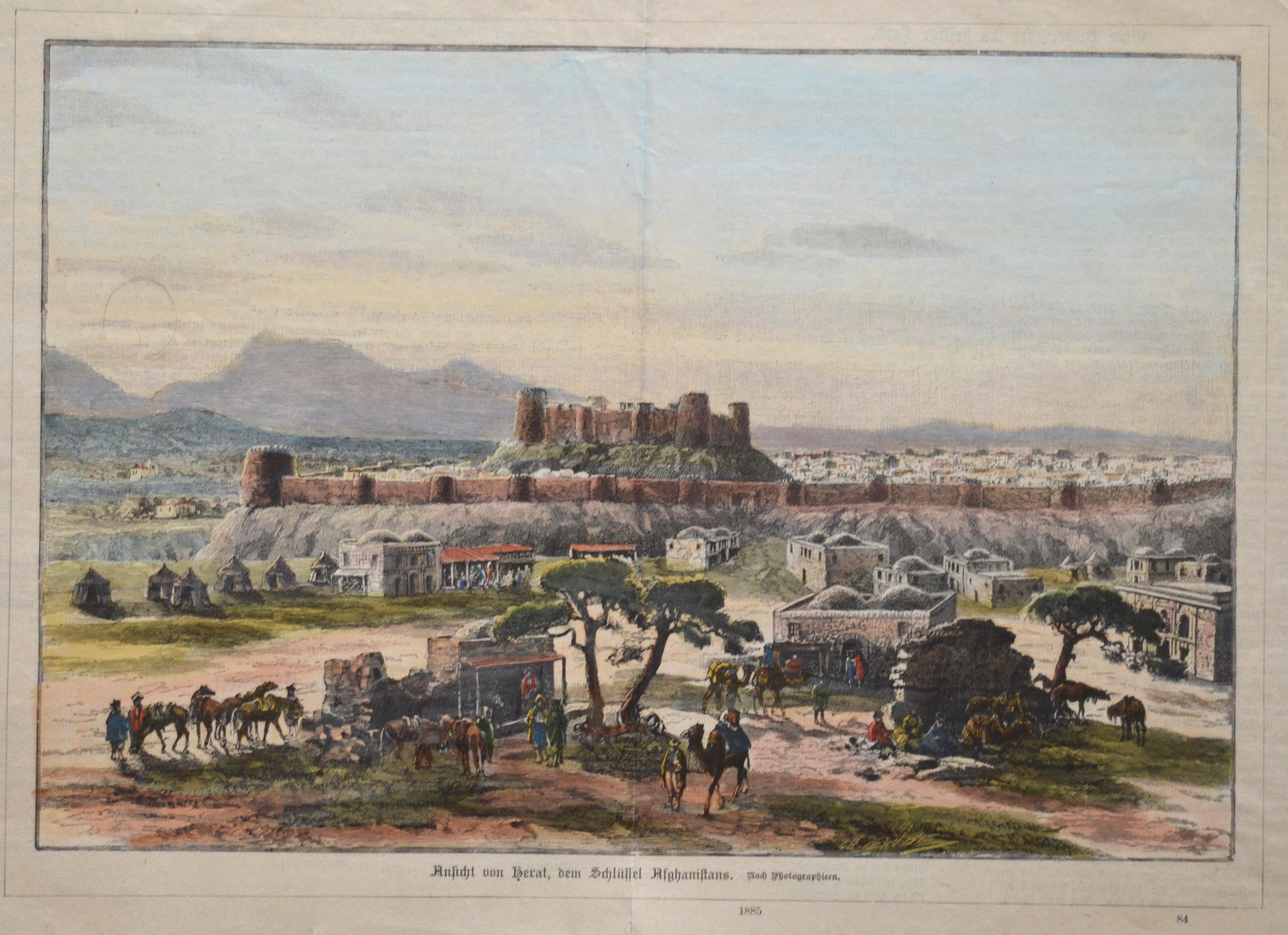 Anonymus  Ansicht von Herat, dem Schlüssel Afghanistans. Nach Fotographieren, 1885