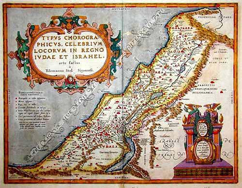 Ortelius Abraham Typus Chorographicus … in Regno Iudae et Israhel