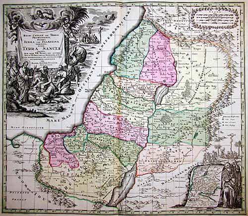 Seutter  Regio Canaan … hodie Terra Sancta vocat