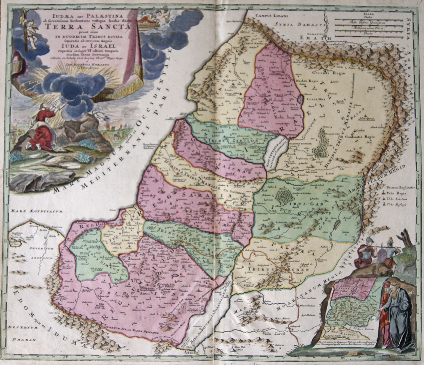 Homann Johann Babtiste Judaea seu Palaestina ob facratissima Redmtoris vestigia podie dicta Terra Sancta