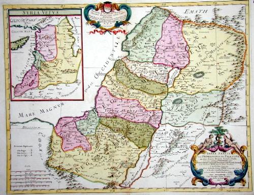 Cantelli da Vignola Giacomo Terra Sancta sive Promissionis, olim Paletina, induo divisa regna, Israel, et Juda….