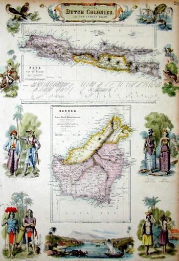 Swanston G.H. Principal dutch colonies. In the Indien Seas. Java / Borneo