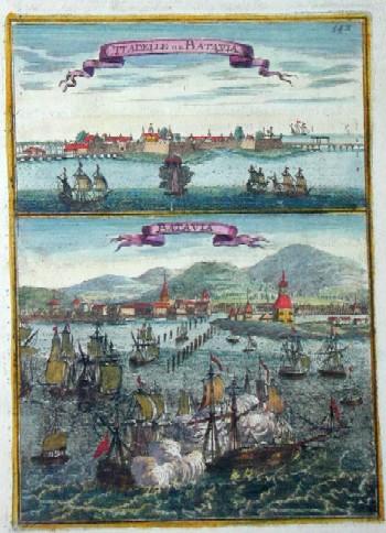 Mallet Alain Manesson Citadelle de Batavia. Batavia