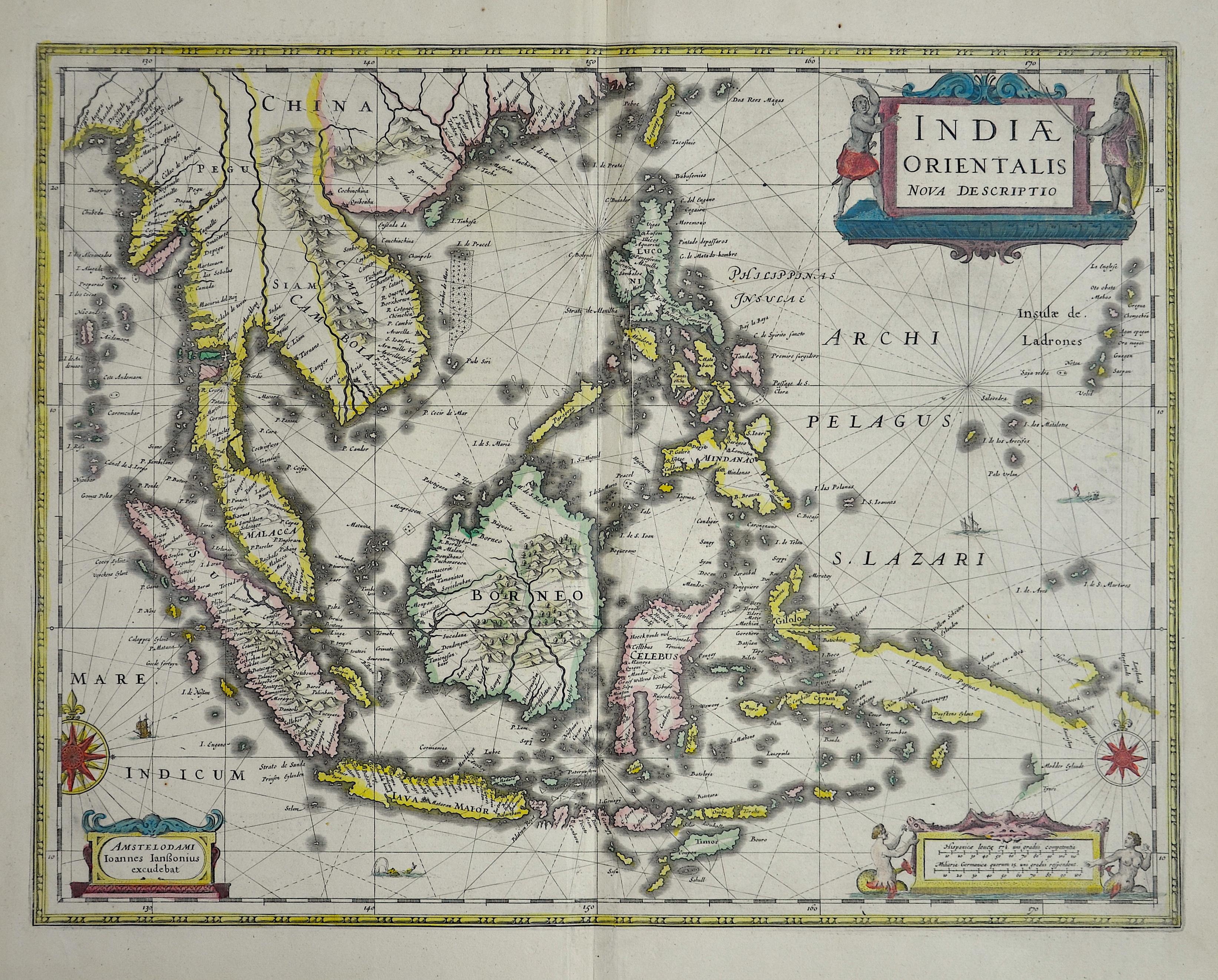 Janssonius  Indiae orientalis nova descriptio