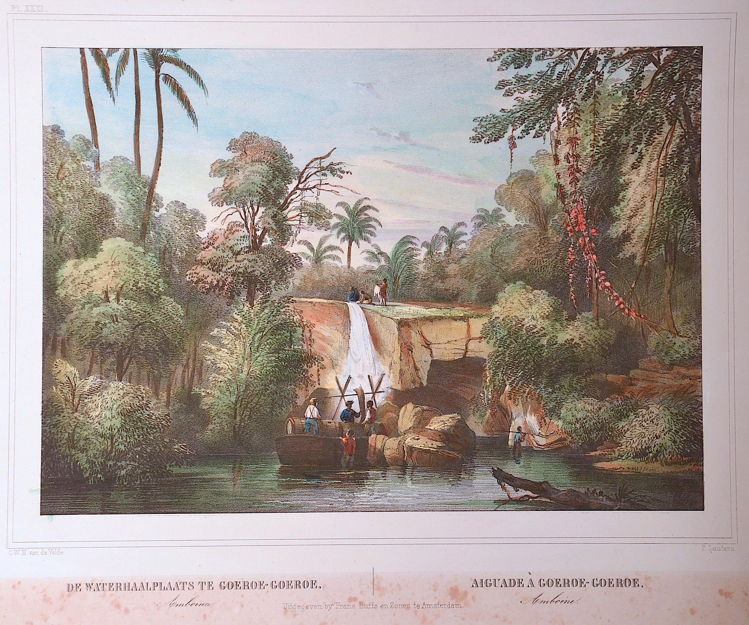 Lauters  De Waterhaalplaats te Goeroe-Goeroe Amboina / Aiguade à Goeroe-Goeroe Amboine