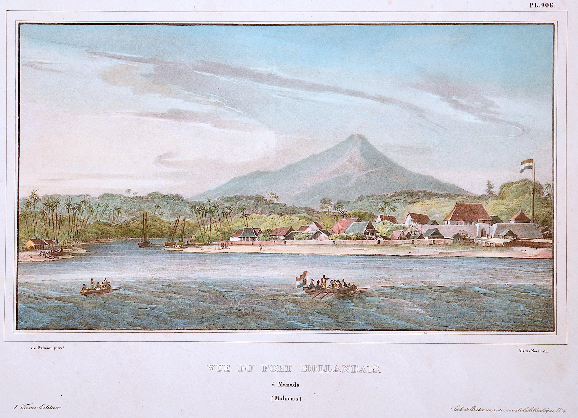 Noel  Vue du Fort Hollandais. À Manado (Moluques)