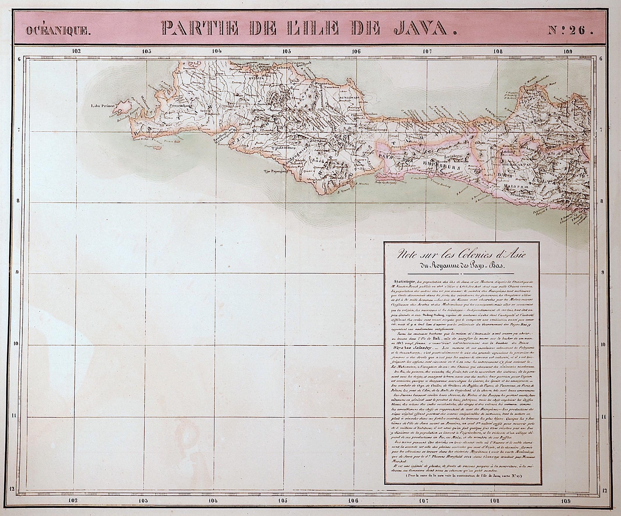 Vandermaelen  Partie de L´ Ile de Java No. 26
