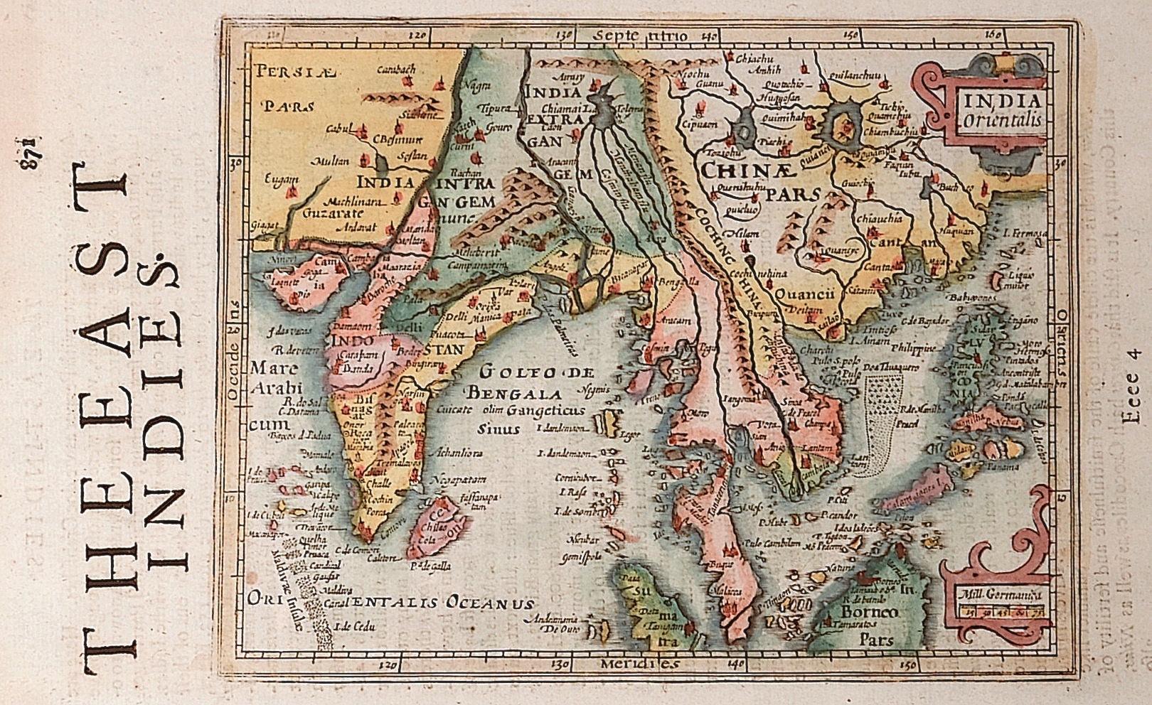 Sparke  India Orientalis / The East Indies.