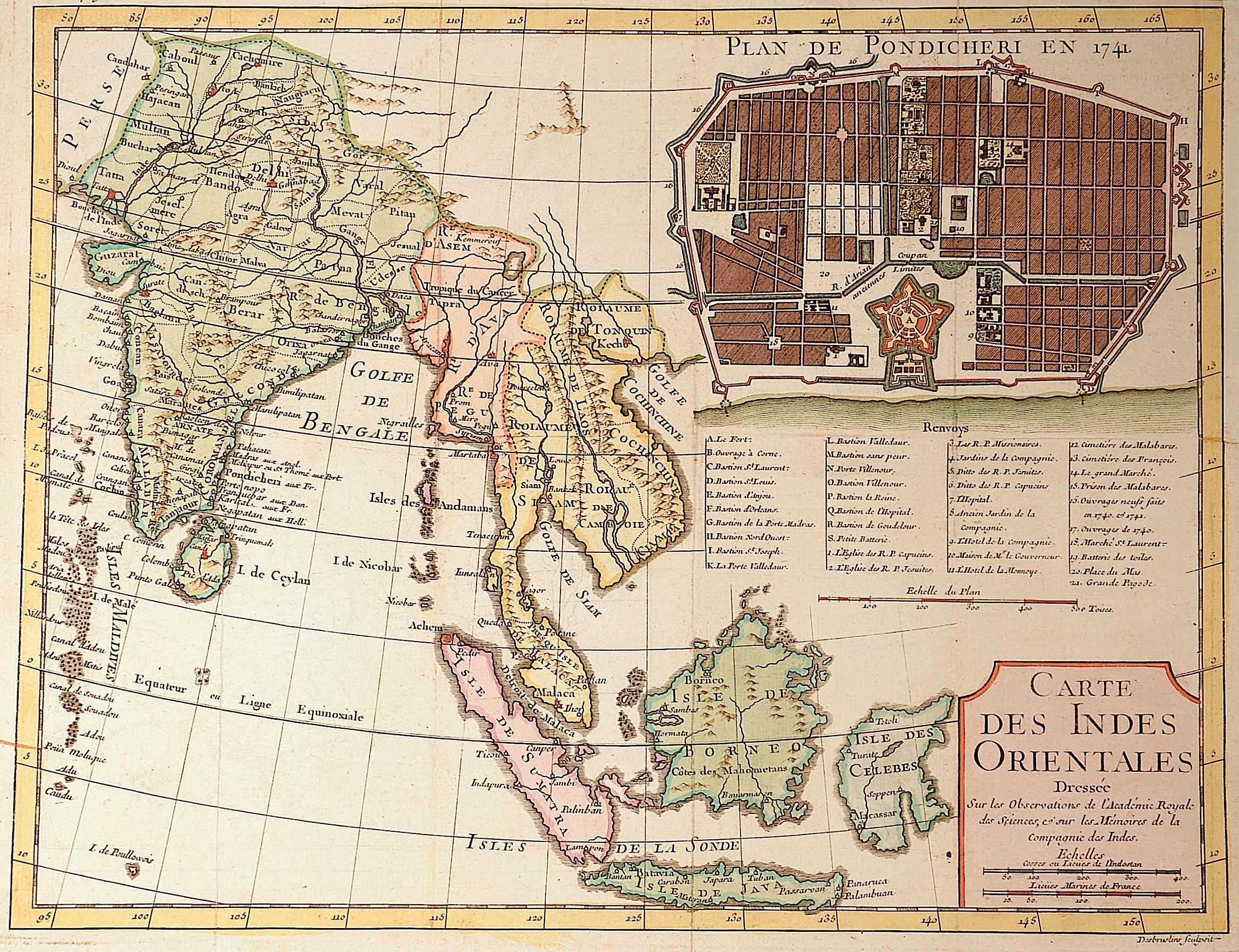 Tirion  Carte des Indes Orientales