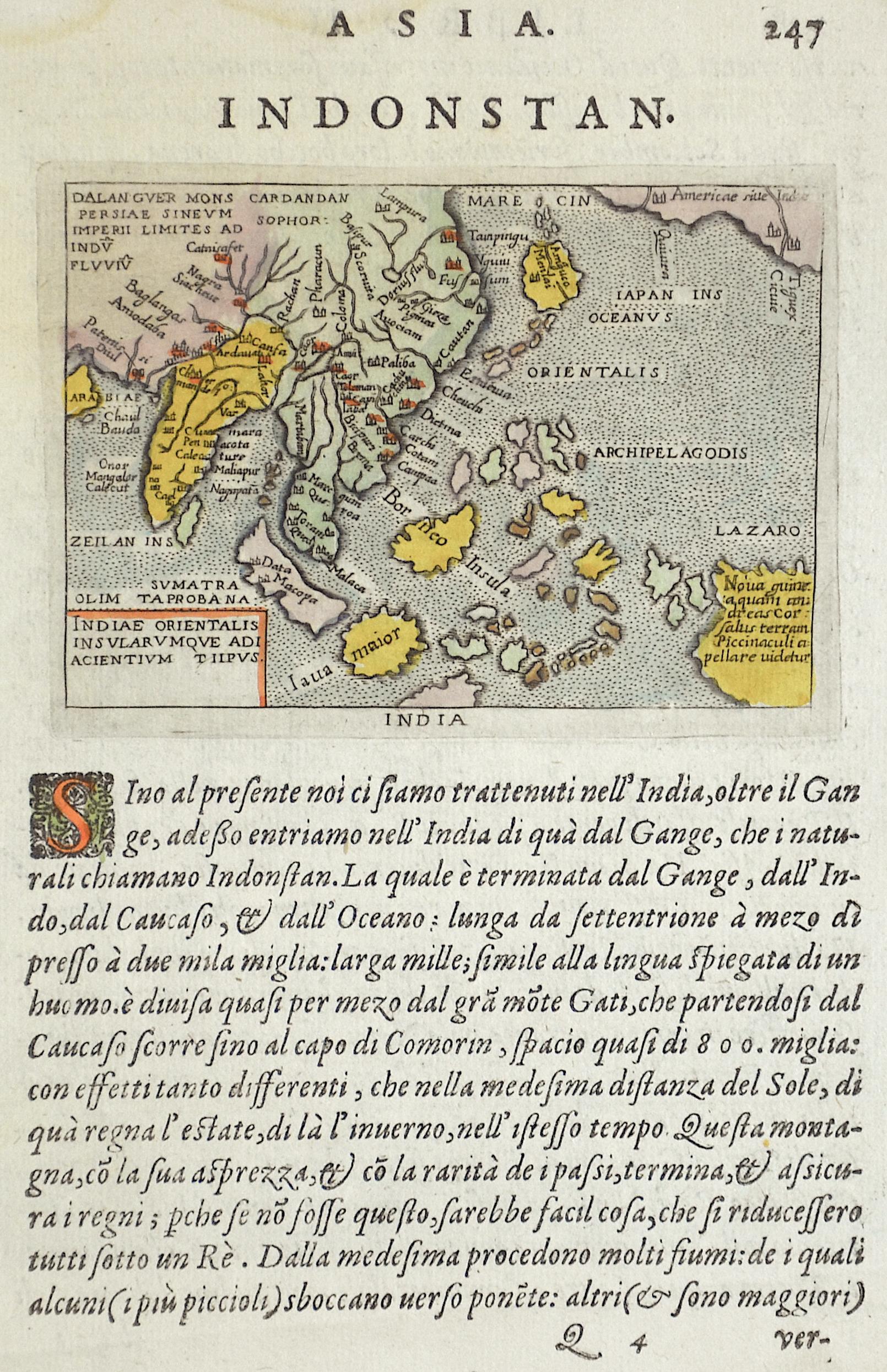 Lasor a Varea  Asia. Indostan. Indiae Orientalis Insularum que adi Acientium tiipus.