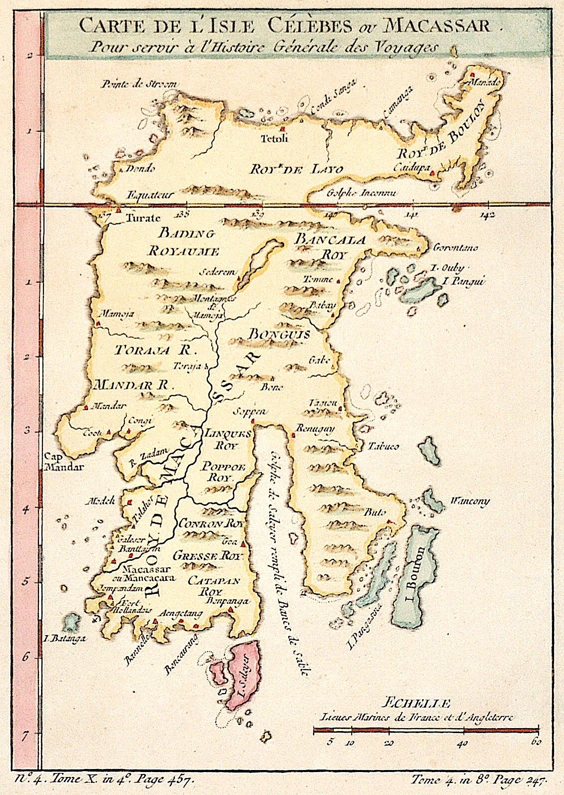 Bellin  Carte de L'Isle Célèbes ou Macassar.
