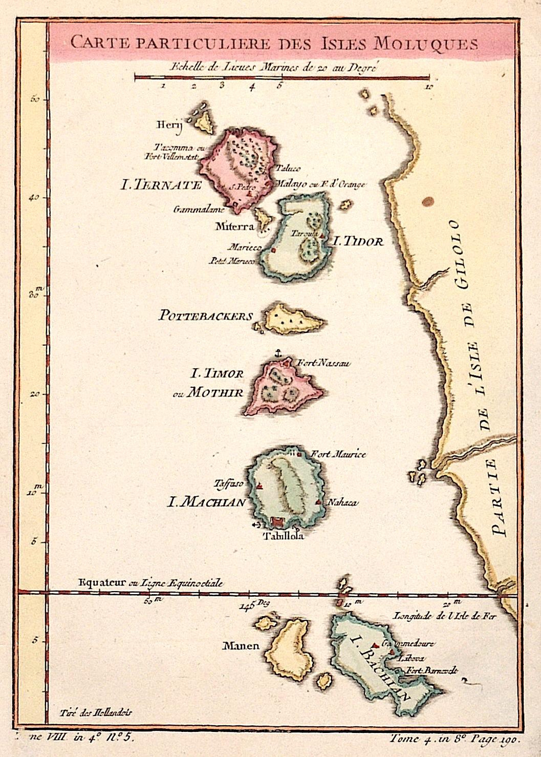 Bellin  Carte Particuliere des Isles Moluques