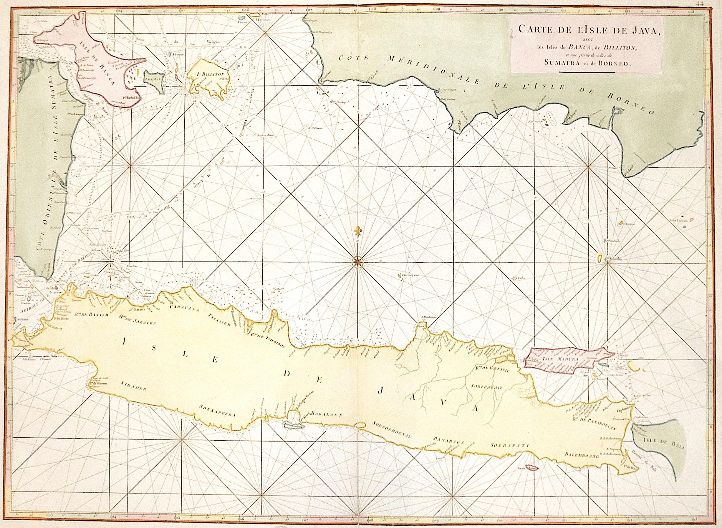 Mannevillette  Carte de l' Isle de Java