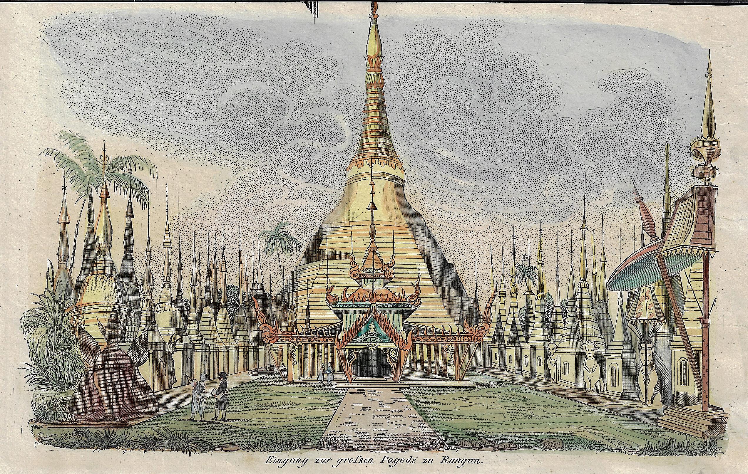 Anonymus  Eingang zur grossen Pagode zu Rangun.