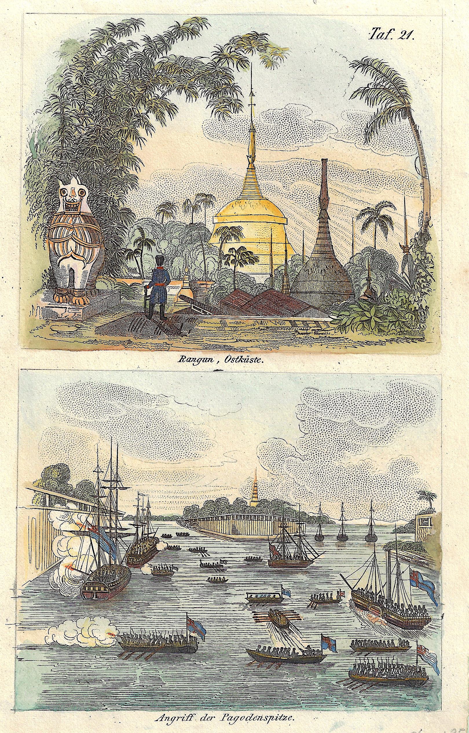 Anonymus  Rangun, Ostküste. / Angriff der Pagodenspitze.