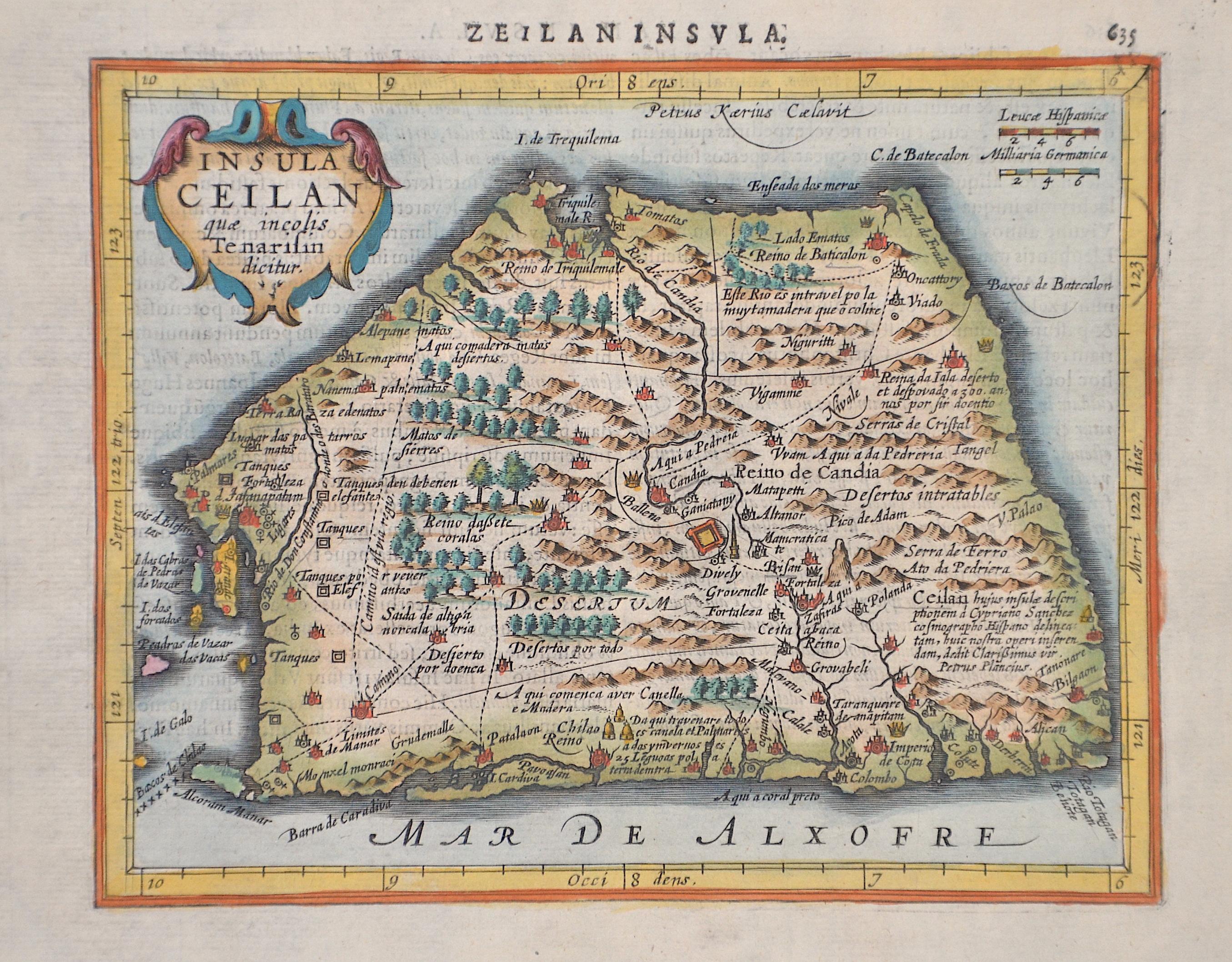Kaerius Petrus Insula Ceilan quae incolis Tenarisin dicitur.