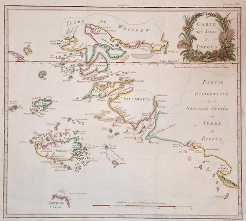 Tirion Isaak Kaart van de Papoasche Eilanden