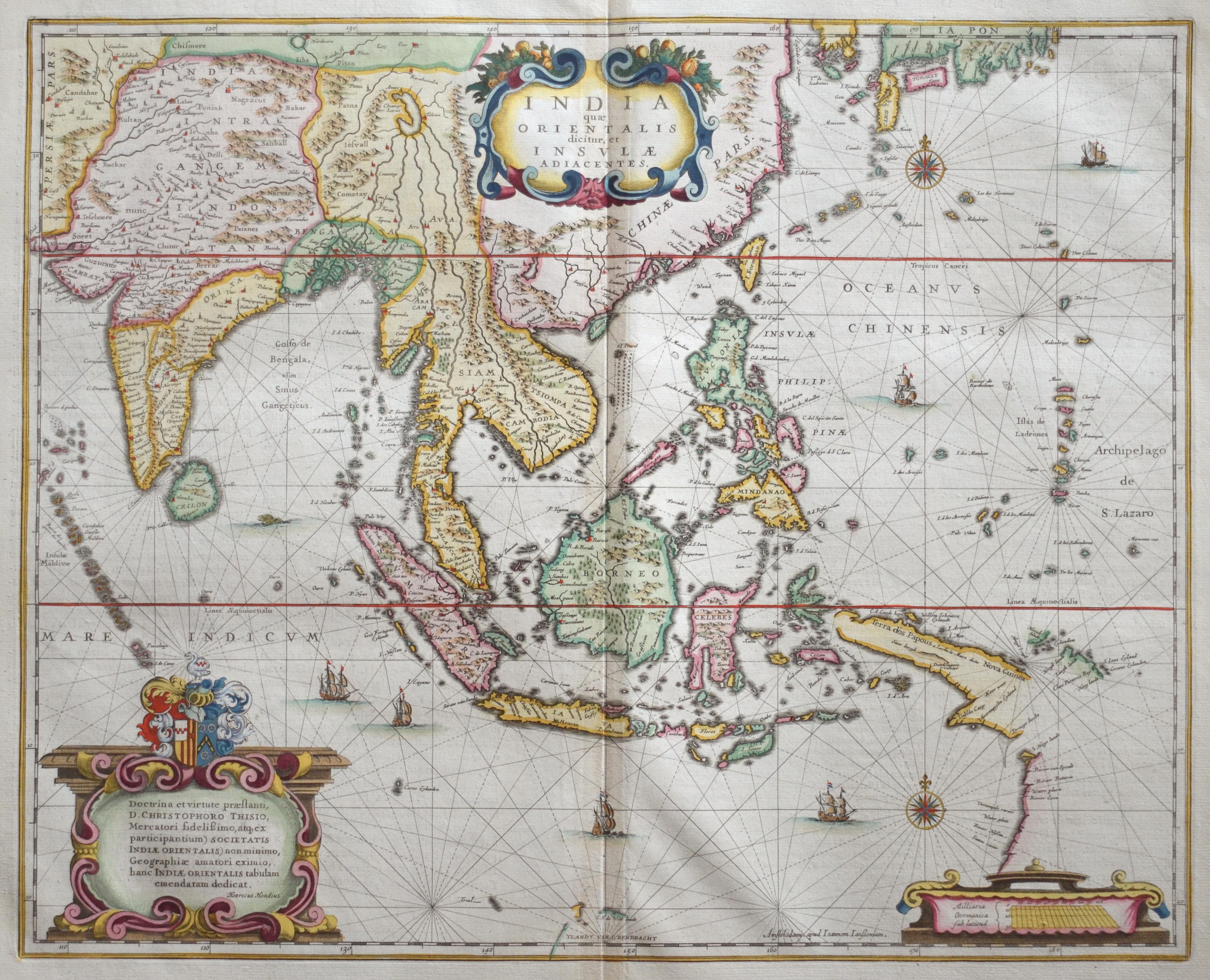 """Janssonius/Mercator-Hondius, H. Johann India quae Orientalis dictur, et Insulae adiacentes"""""""