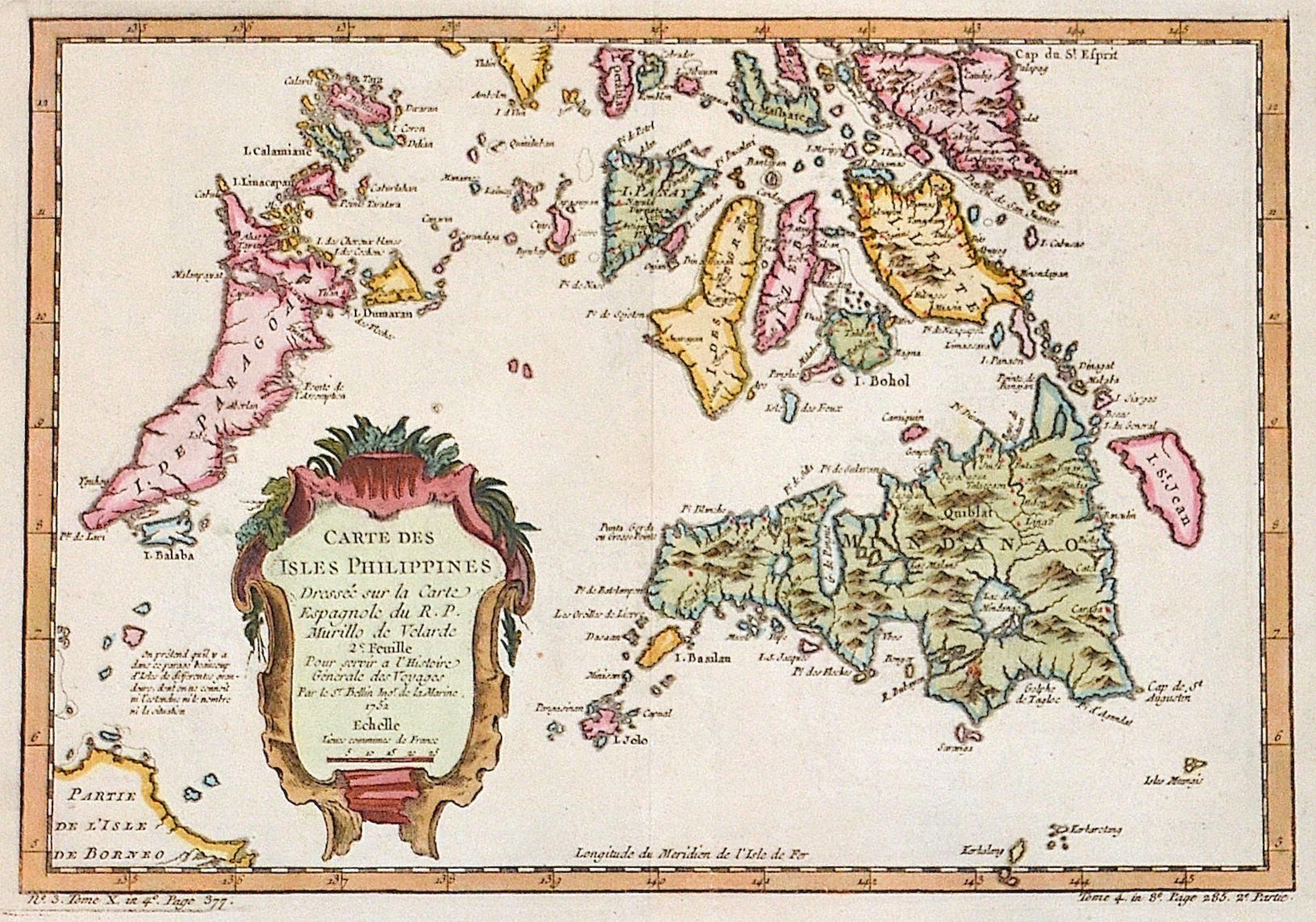 Bellin  Carte des Isles Philippines
