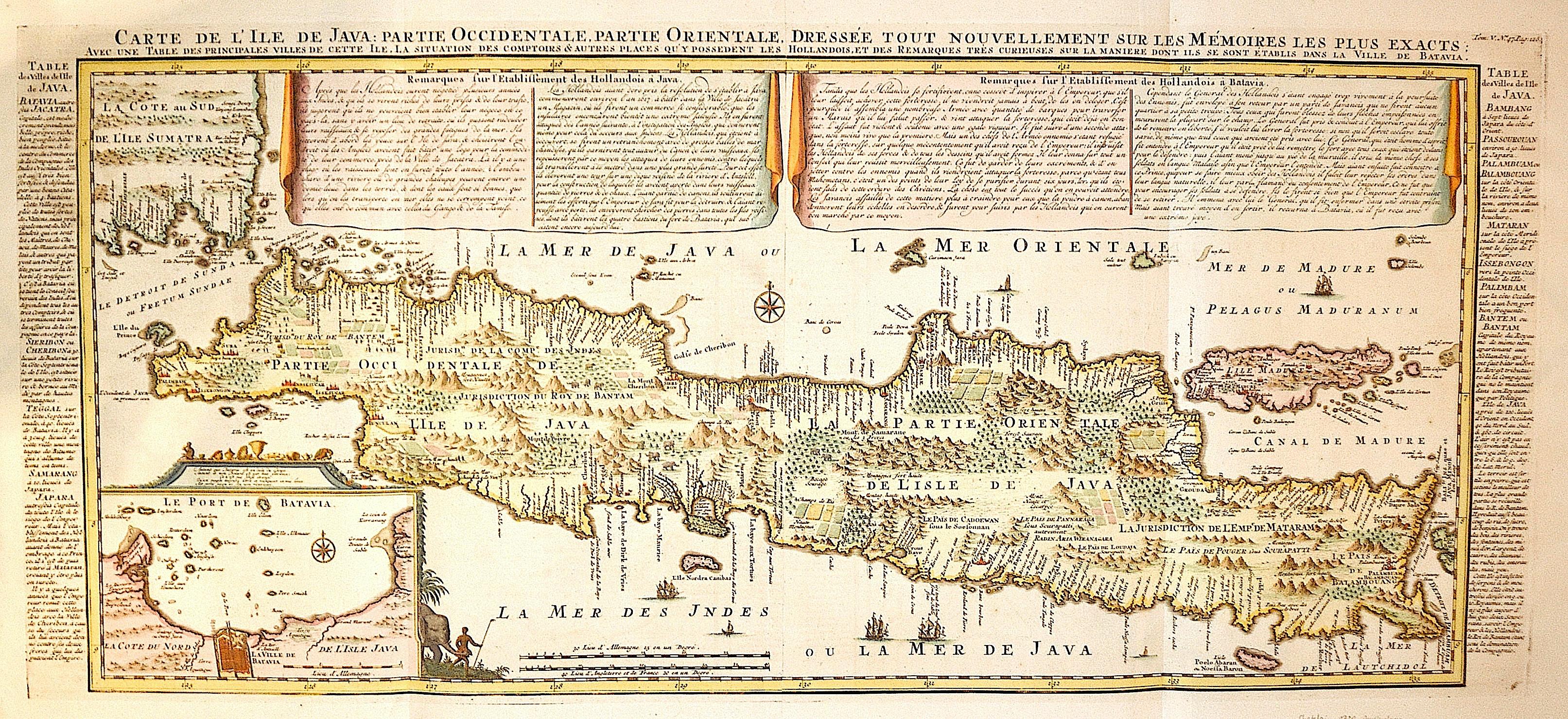 Chatelain  Carte de l´Ile de Java: Partie occidentale, partie oreintale, dresse tout nouvellement sur les memoires les plus exactes
