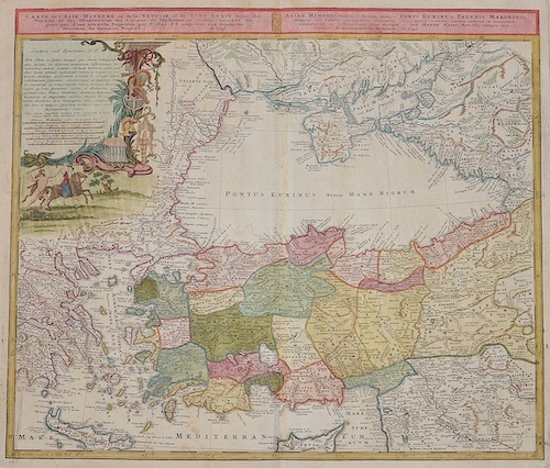 Homann Erben  Carte de l'Asie Minevre ou de la Natolie et du Pont Euxin… / Asiae Minoris Veteris et Novae itemque Ponti Euxini et Paludis Maeotidis…
