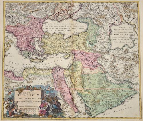 Homann Johann Babtiste Imperium Turcicum in Europa, Asia et Africa regiones……