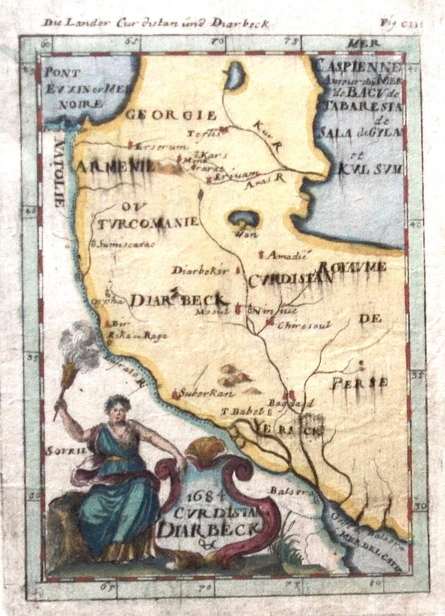 Mallet  Die Länder Kurdistan und Diarbeck/ 1684 Curdistan, Diarbeck
