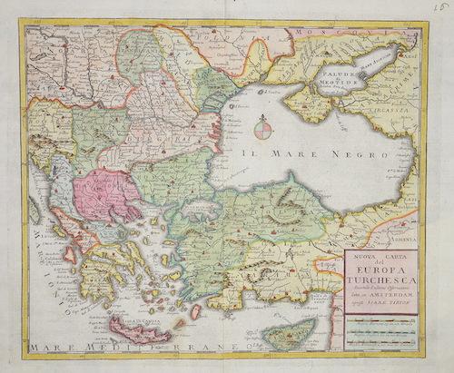 Tirion Isaak Nuova Carta del Europa Turchescan secondo l´ultime Offervazioni….
